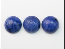 Кабошон Дюмортьерит , круг, в ассортименте , Мозамбик (10*10*4,5 мм, 0,7 г) №20711