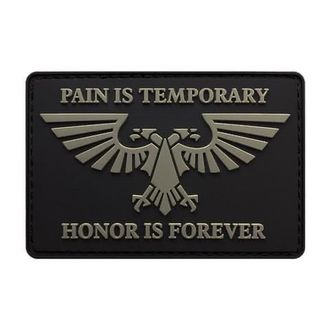 Патч Pain is temporary Honor is forever Warhammer 40k ПВХ (8 х 6 см)