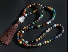 "Четки 108 бусин ""Коллекция"" из натуральных камней (шар 10 мм) №18199"