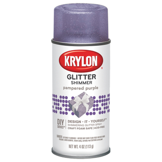 Krylon Glitter Shimmer Pampered Purple 406