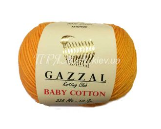 Gazzal baby cotton 3417 желтый