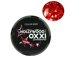 Глитерный гель OXXI Professional Hollywood №9, 5гр