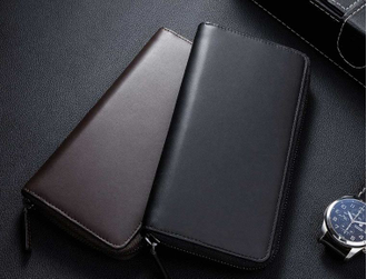 Портмоне Xiaomi 90 Points simple first layer calfskin handbag черное