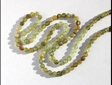 Бусина Гранат зеленый (Гроссуляр) 3,5 мм, грань, цена за 1 штуку (вес 0,7 г) №22679