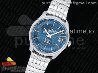 De Ville Hour Vision 41mm SS VSF 11 Best Edition Blue Dial on Black SS Bracelet A8500