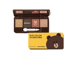 "Тени для век Missha Line Friends""Eye Color Studio Mini""(мишка)"