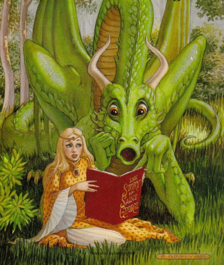 Открытки, смешные картинки драконов девочек