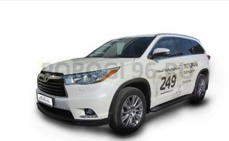 Пороги на Toyota Highlander  (2014-2017) Black Optima