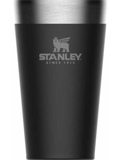 Термостакан STANLEY Adventure Stacking Vacuum Pint, 0.47л, черный