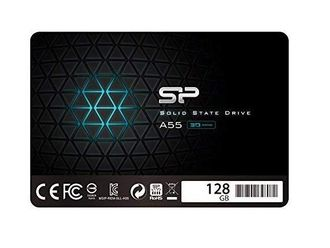 "SSD 128GB SSD Silicon Power 3D NAND A55 SLC Cache Performance Boost SATA III 2.5"" 7mm (0.28"") Internal Solid State Drive (SU128GBSS3A55S25AC) - 15500 тенге"
