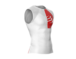 TRIATHLON POSTURAL TANK TOP WHITE