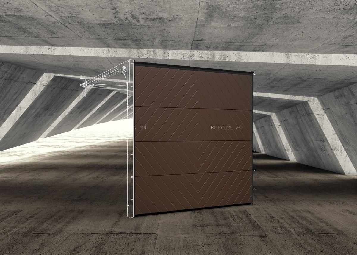индивидуальное изготовление ворот для гаража - секционные автоматические системы - Установка Днепр