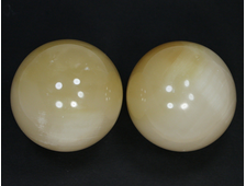 Шар Оникс желтый в ассортименте, Пакистан (50 мм, 175 г) №20823