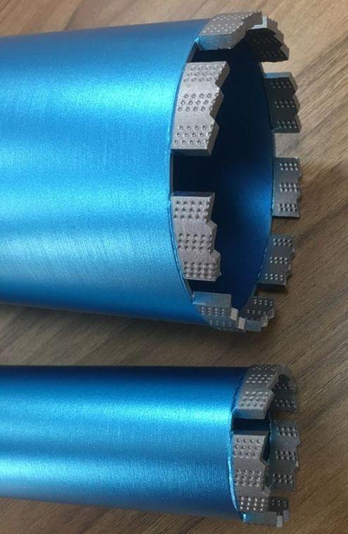 Алмазная коронка BYCON диаметр 42 мм L450 мм. CHETAK series. Лазерная сварка сегментов.