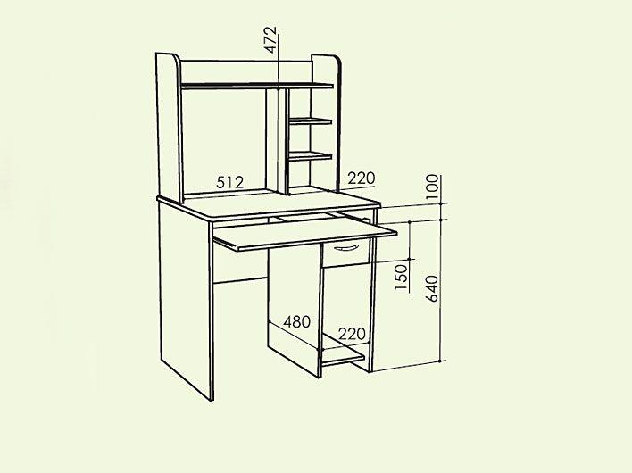 Компьютерные столы и комплексы - стол компьютерный студент2 .