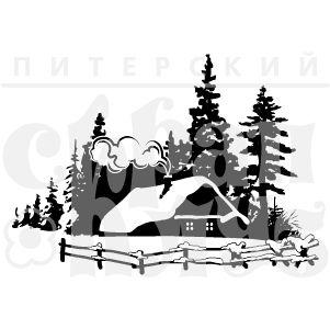 """ФП штамп """"Домик в лесу"""""""