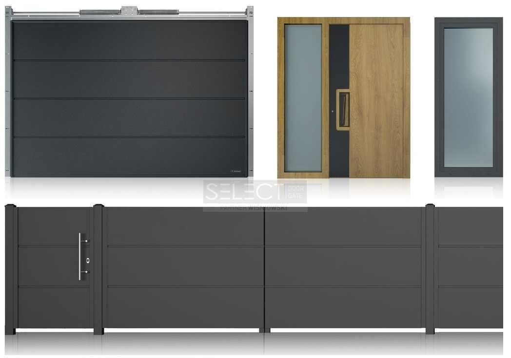 Наружные уличные входные двери - теплые алюминиевые системы со стеклом для дома