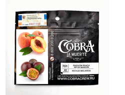 Табак Cobra Passion Peach Персик Маракуйя La Muerte 50 гр
