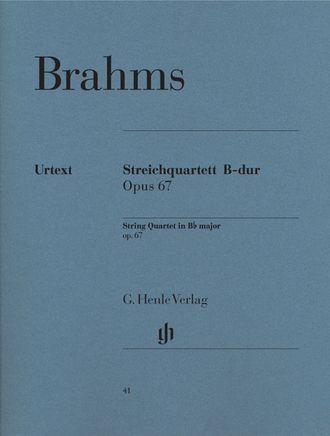 Brahms String Quartet B flat major op. 67