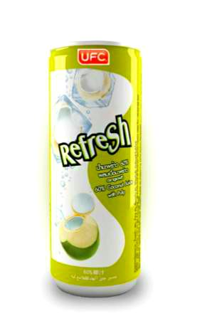 Кокосовая вода UFC Refresh 60% Coconut Water with Pulp