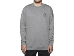 Худи HUF Triple Triangle Crew Grey Heather
