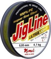 Шнур JigLine Ultra Light 0,06мм 4,1кг 100м рубин