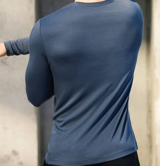 Лонгслив Xiaomi 90 Points  long-sleeved bottoming shirt черный XL