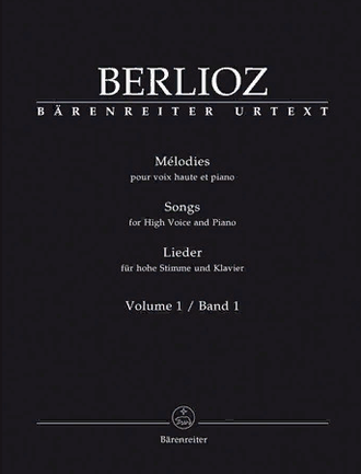 Berlioz Songs for High Voice and Piano Volume 1
