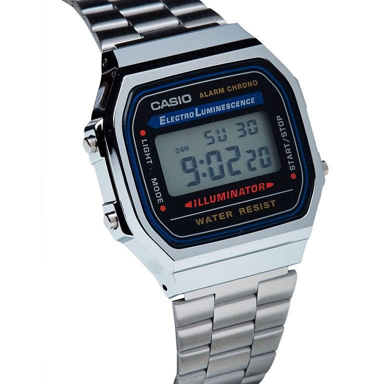 Мужские электронные японские наручные часы Casio A-168WA-1 купить в ... ccaefd8293eb0