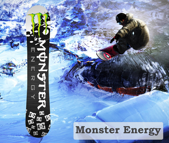 Наклейка на сноуборд Monster Energy