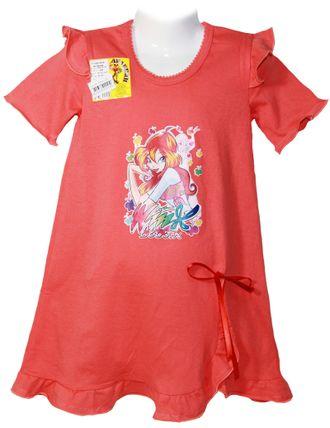 Сорочка для девочки (Артикул 338-022) цвет коралловый
