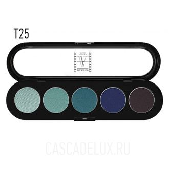 T25 Make-up Atelier Paris, Тени палитра 5 цветов