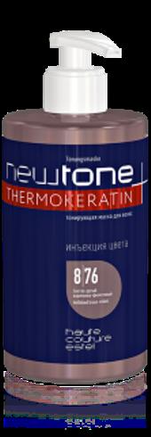 Тонирующая маска для волос 500 мл NEWTONE 8/76, светло-русый коричнево-фиолетовый