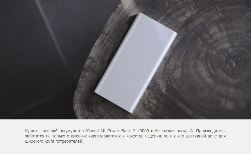 Аккумулятор Xiaomi Mi Power Bank 2 New Dual USB 10000 mAh, серебро