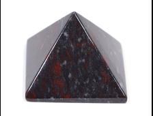 Пирамида Яшма брекчиевая, ЮАР (50*50*35 мм, 110 г) №17399