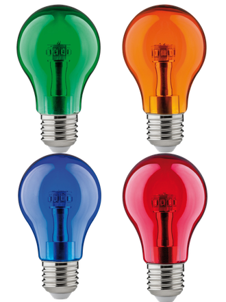 Ecola LED Color A55 8w Blue/Red/Green/Orange E27 комплект 4 цвета