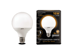 Gauss LED G95 16w 830/840 E27