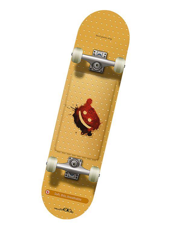 Профессиональный скейтборд Hello Wood STRIP