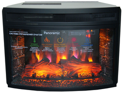 "очаг panoramic 25"" led fx new"