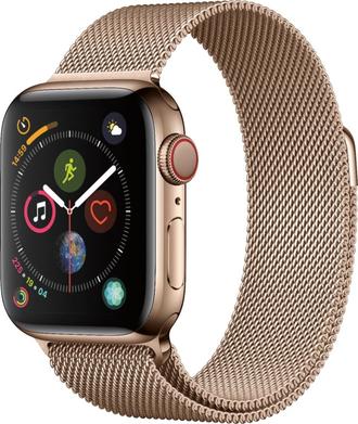 Apple Watch Series 4 Cellular 44mm Stainless Steel With Milanese Loop Gold