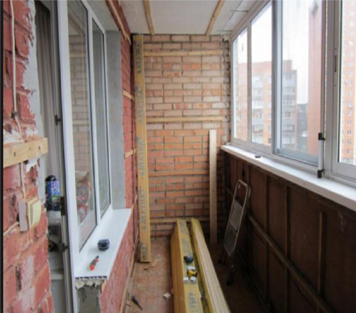 Ремонт балкона. - окна / двери / балконы киев на 300x.ua.