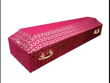 Гроб деревянный с тканевой отделкой Бархат Респект