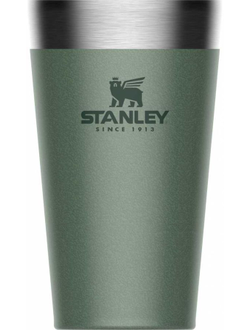 Термостакан STANLEY Adventure Stacking Vacuum Pint, 0.47л, зеленый
