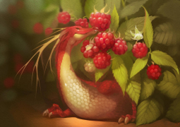 Raspberry dragon Art by GaudiBuendia