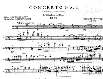Bottesini Concerto No.1 b minor for String Bass and Piano (One movement)
