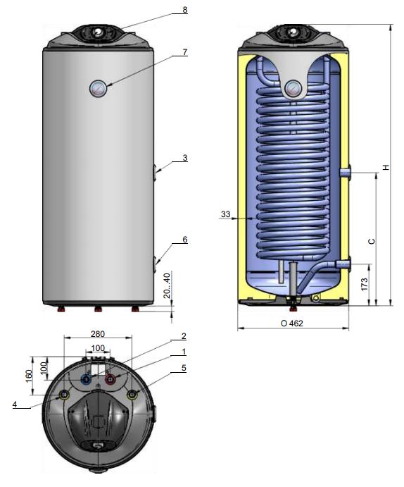 Водонагреватели косвенного нагрева для газовых котлов