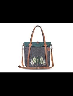 3dc24a88236a Рождественская сумка-шоппер Ginger Bird Изумрудного цвета