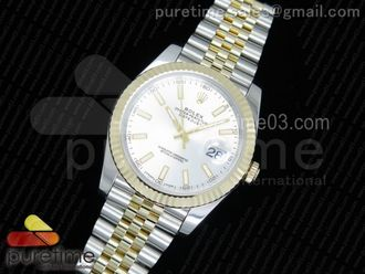 DateJust 41 126333 YG Wrapped YG Dial on SS/YG Jubilee Bracelet Silver Dial