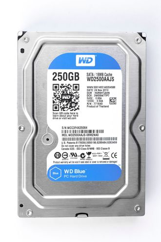 "HDD Жесткий диск 3.5"" SATA III Western Digital [WD2500AAJS] 250Gb 16Mb 7200 rpm"