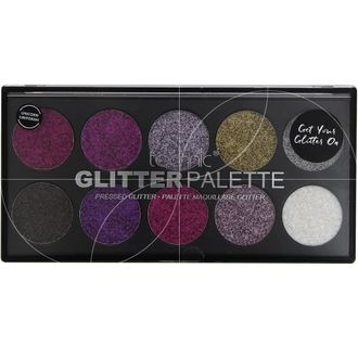 Палетка тени для век TECHNIC GLITTER PALETTE UNICORN UNIFORM 10 FARDS A PAUPIERES  10X2,5г